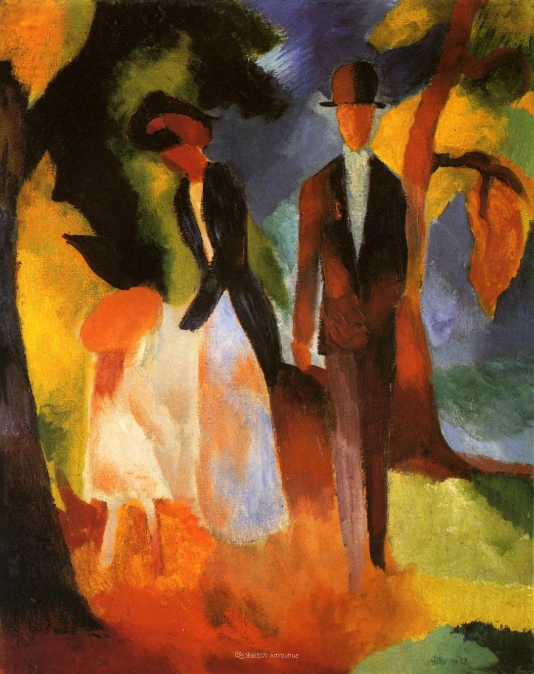 画面色彩的力量,德国表现主义画家奥古斯特·马克插图115
