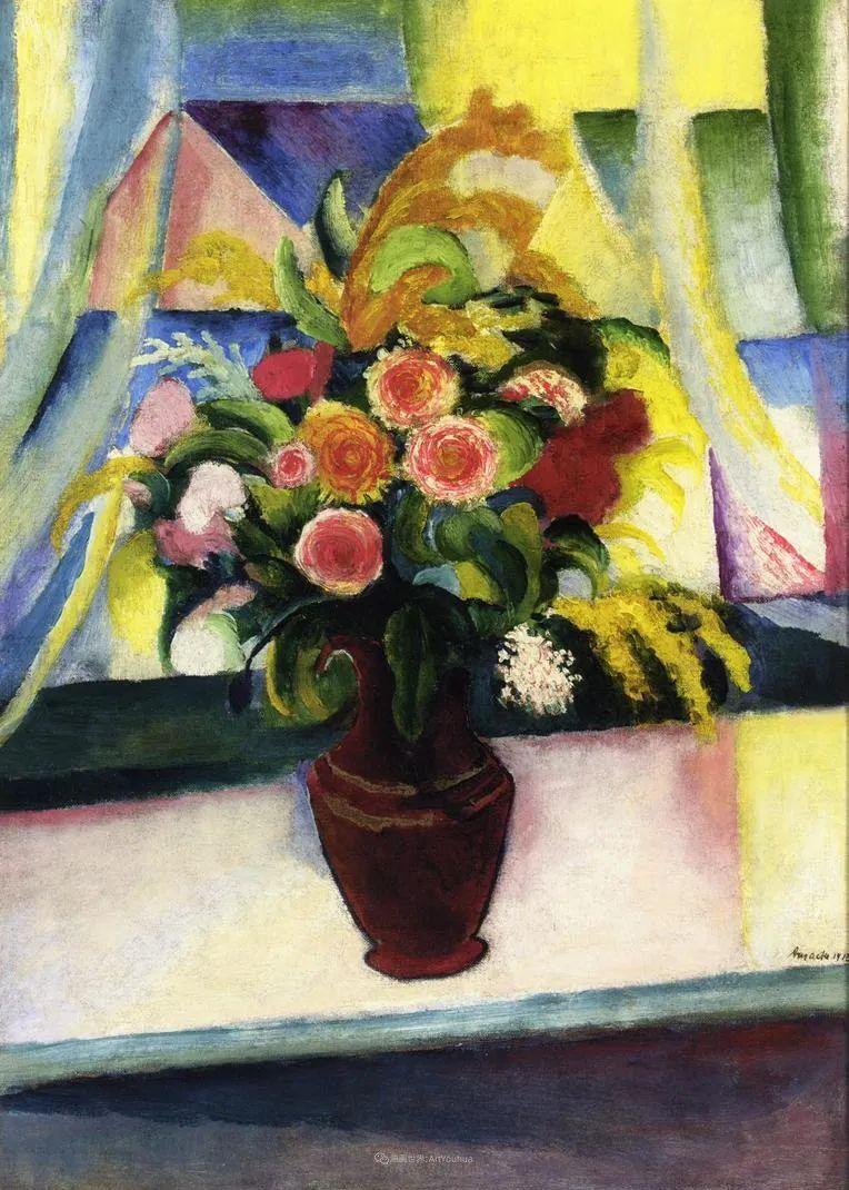 画面色彩的力量,德国表现主义画家奥古斯特·马克插图117