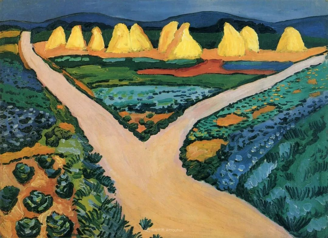 画面色彩的力量,德国表现主义画家奥古斯特·马克插图119
