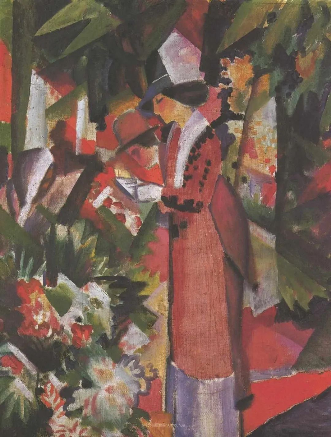 画面色彩的力量,德国表现主义画家奥古斯特·马克插图121