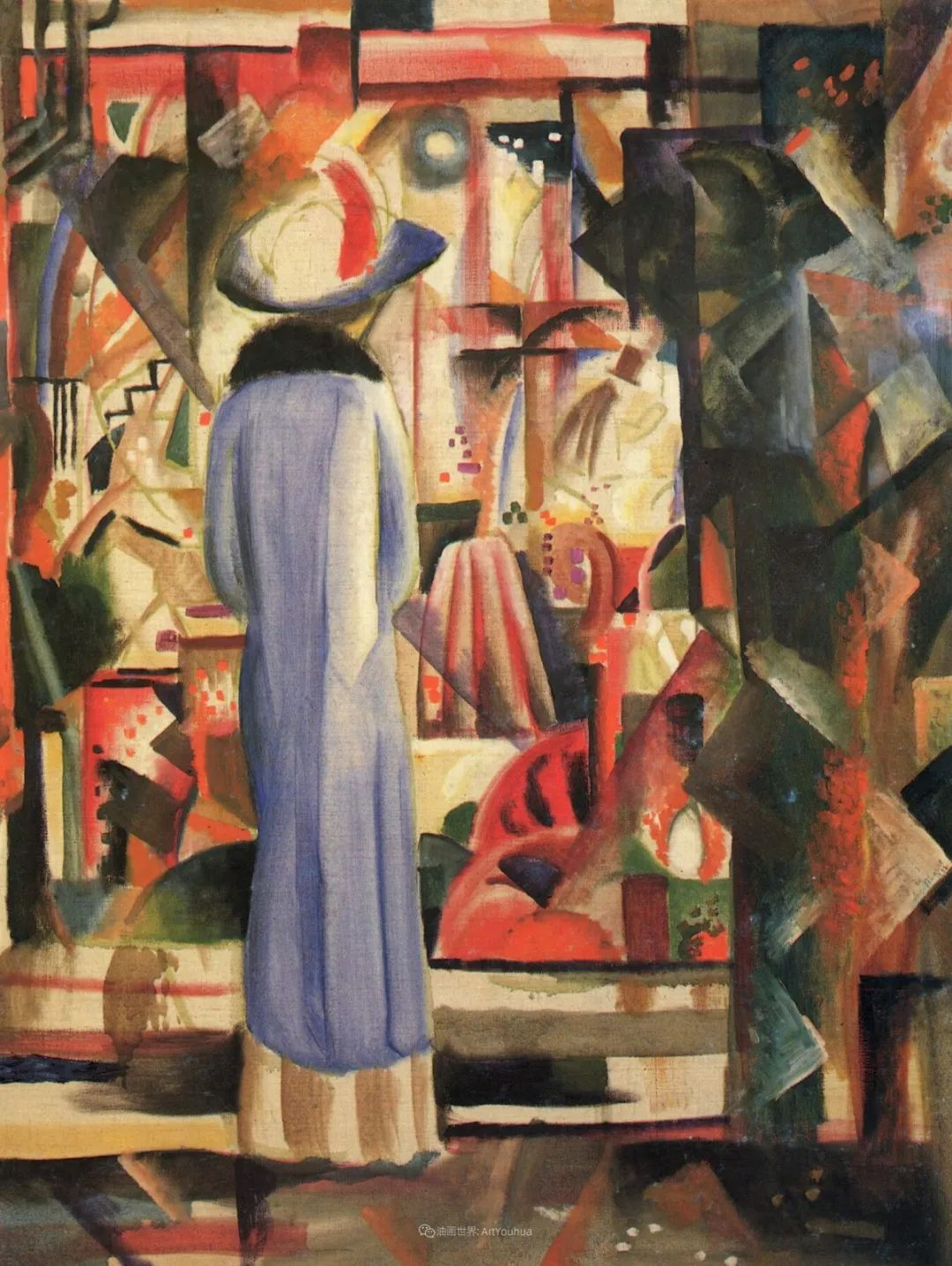 画面色彩的力量,德国表现主义画家奥古斯特·马克插图123