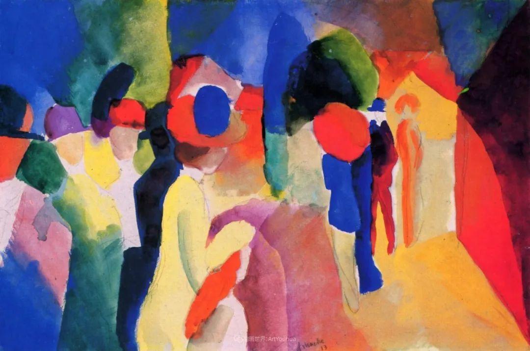 画面色彩的力量,德国表现主义画家奥古斯特·马克插图125