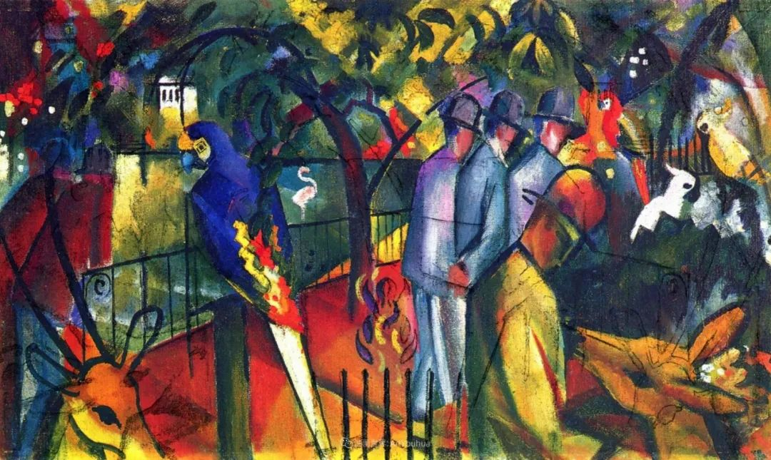 画面色彩的力量,德国表现主义画家奥古斯特·马克插图127