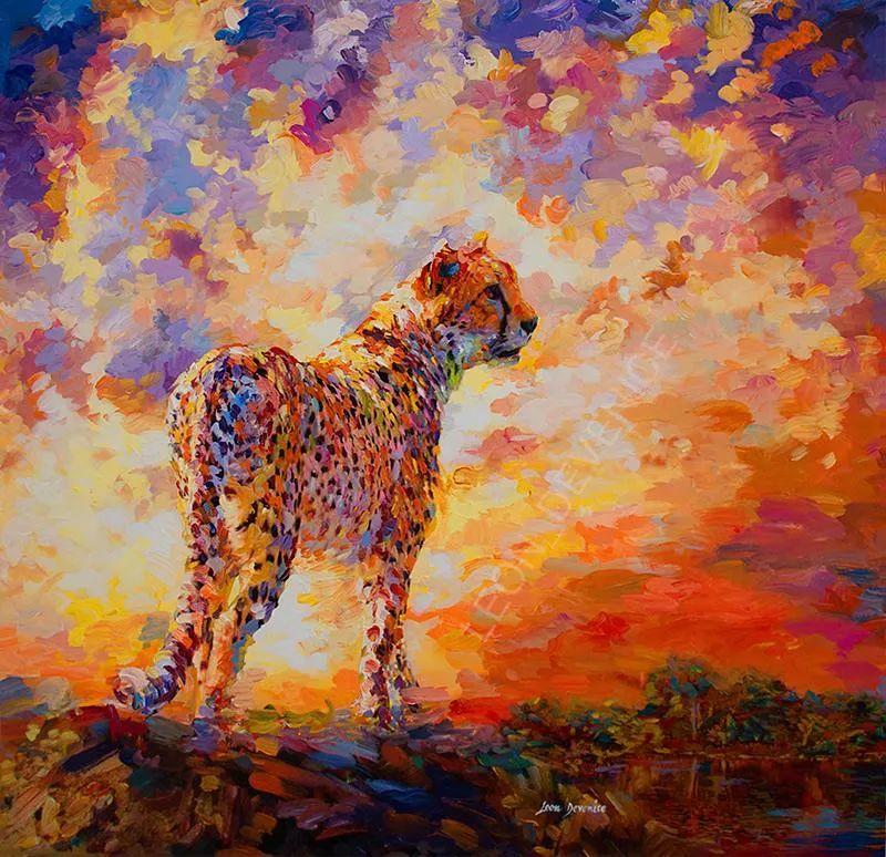 艳丽多彩的人物、动物和静物,利昂·德文尼采作品三插图5