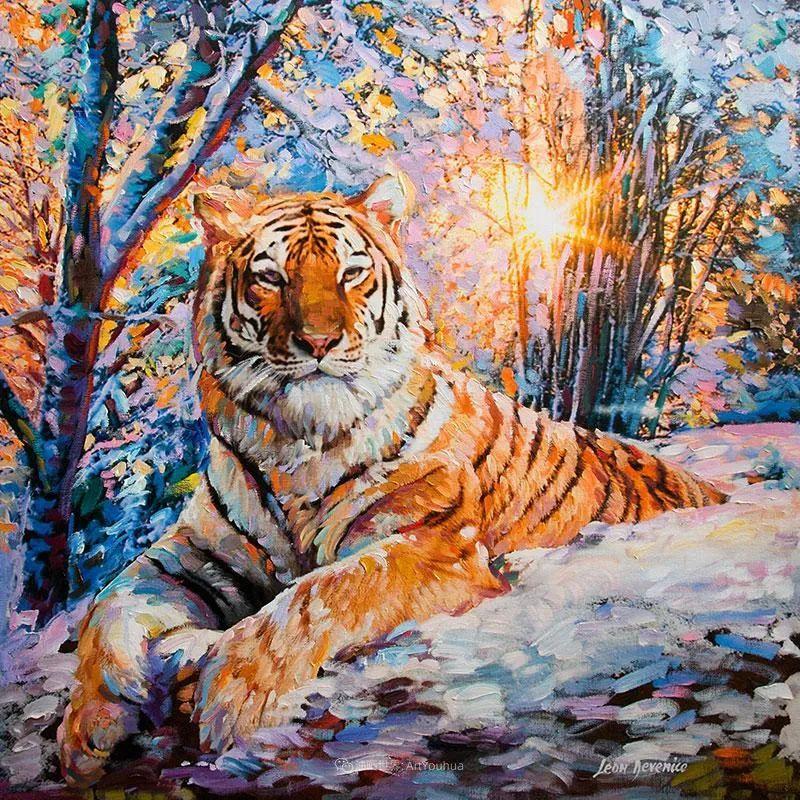 艳丽多彩的人物、动物和静物,利昂·德文尼采作品三插图7
