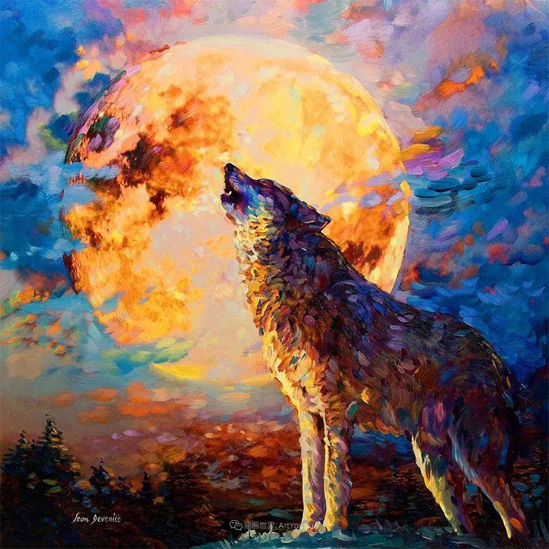 艳丽多彩的人物、动物和静物,利昂·德文尼采作品三插图9