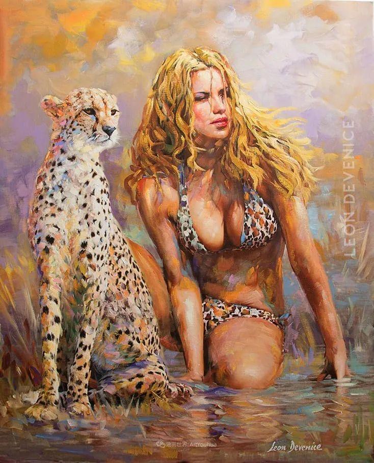 艳丽多彩的人物、动物和静物,利昂·德文尼采作品三插图11