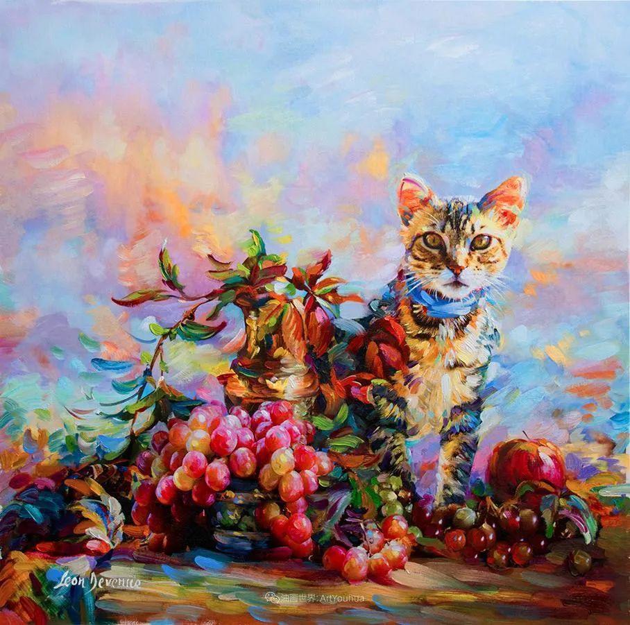 艳丽多彩的人物、动物和静物,利昂·德文尼采作品三插图13