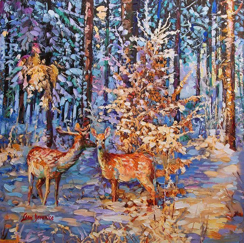 艳丽多彩的人物、动物和静物,利昂·德文尼采作品三插图19