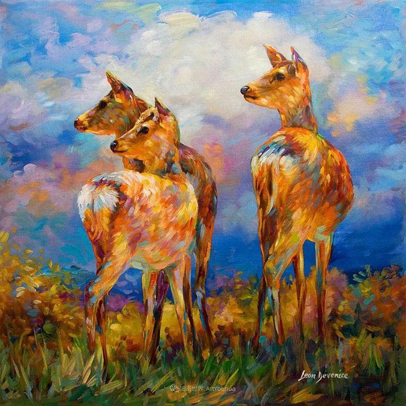 艳丽多彩的人物、动物和静物,利昂·德文尼采作品三插图21