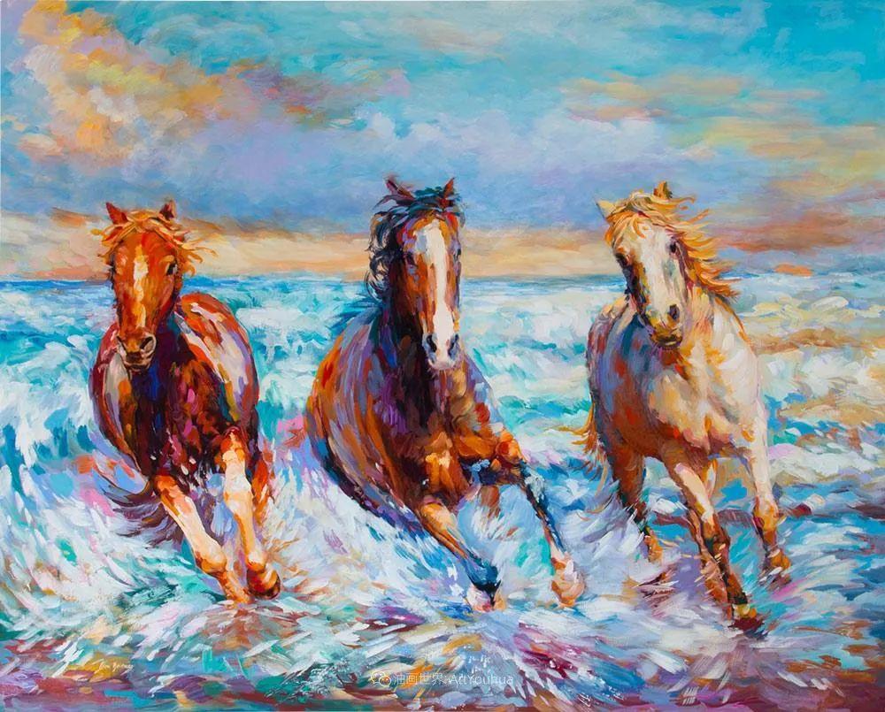 艳丽多彩的人物、动物和静物,利昂·德文尼采作品三插图23
