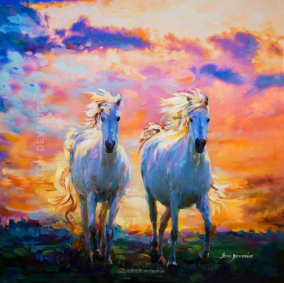 艳丽多彩的人物、动物和静物,利昂·德文尼采作品三插图25