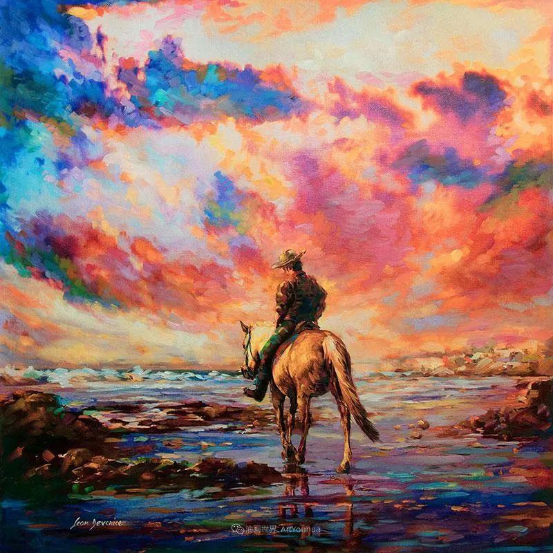 艳丽多彩的人物、动物和静物,利昂·德文尼采作品三插图27