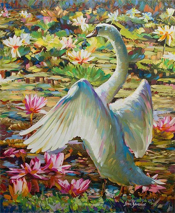 艳丽多彩的人物、动物和静物,利昂·德文尼采作品三插图51