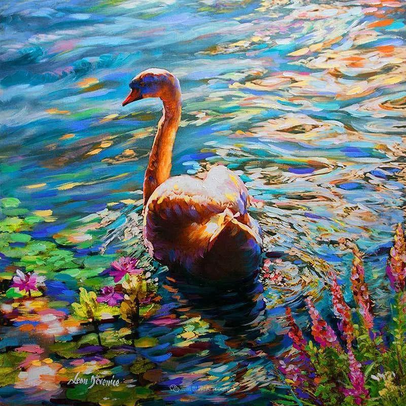 艳丽多彩的人物、动物和静物,利昂·德文尼采作品三插图53
