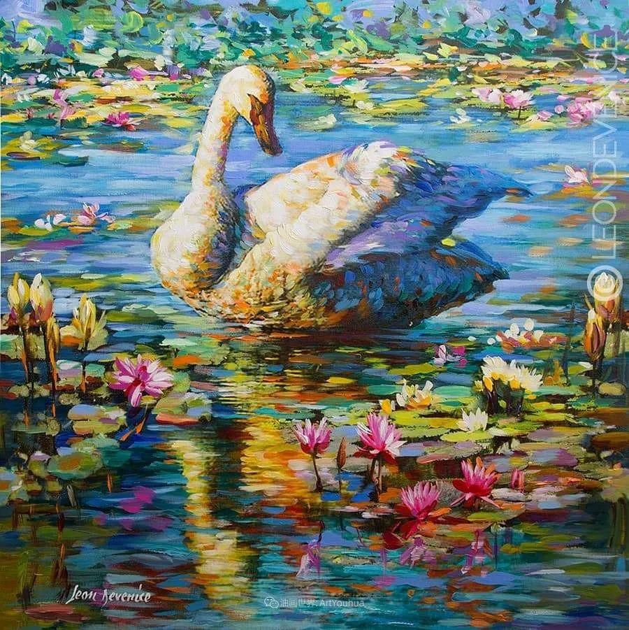 艳丽多彩的人物、动物和静物,利昂·德文尼采作品三插图55