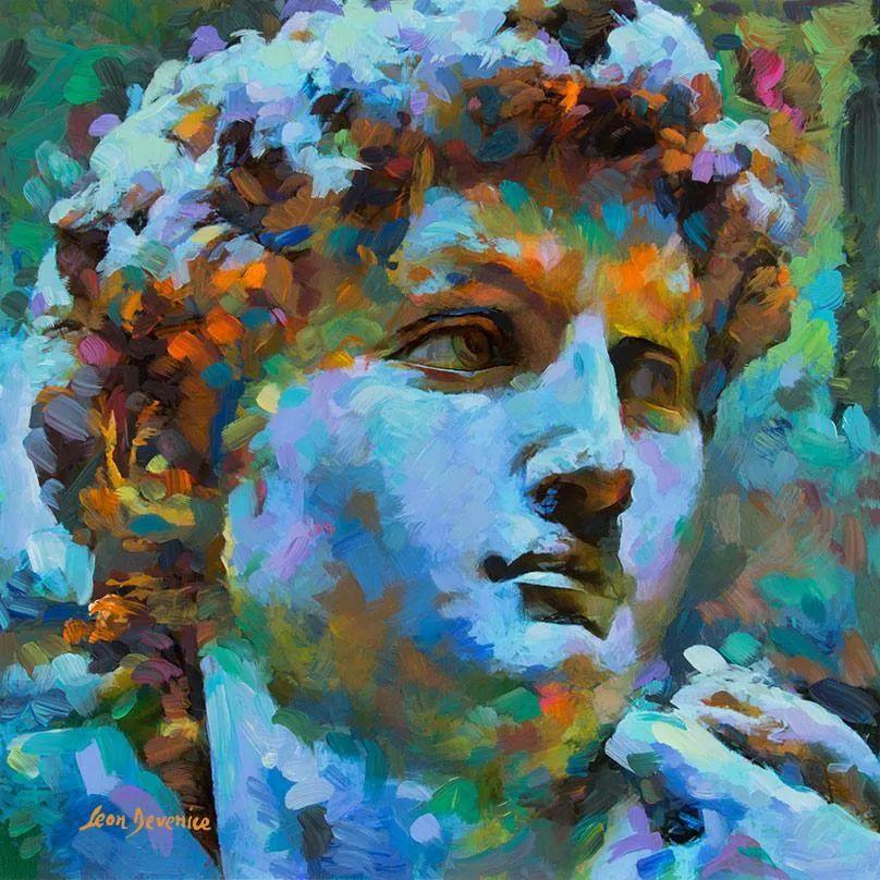 艳丽多彩的人物、动物和静物,利昂·德文尼采作品三插图75
