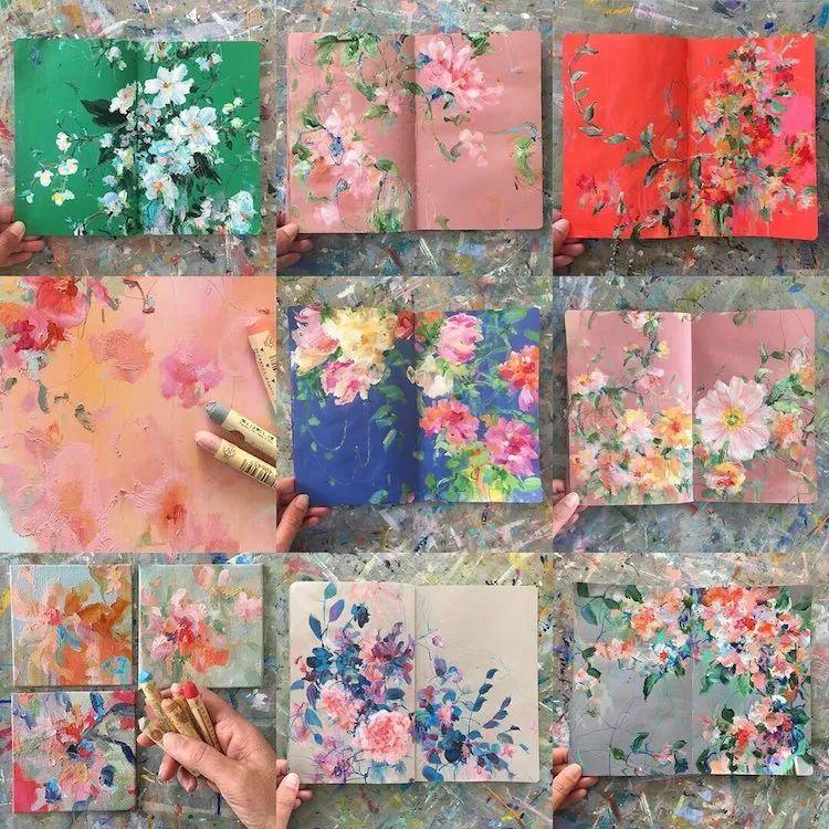 藏在画本里精美的花儿们,好美!插图1