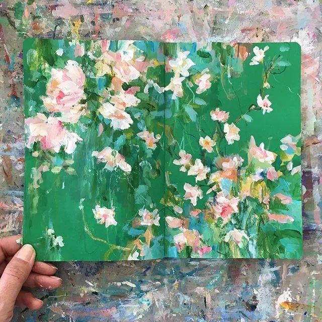 藏在画本里精美的花儿们,好美!插图3