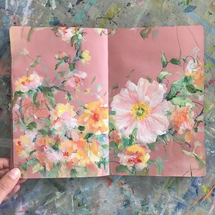 藏在画本里精美的花儿们,好美!插图7