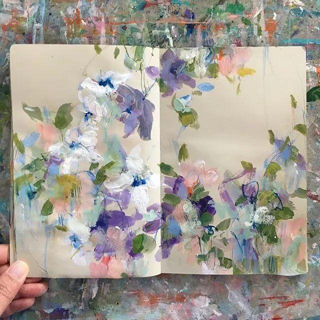 藏在画本里精美的花儿们,好美!插图9