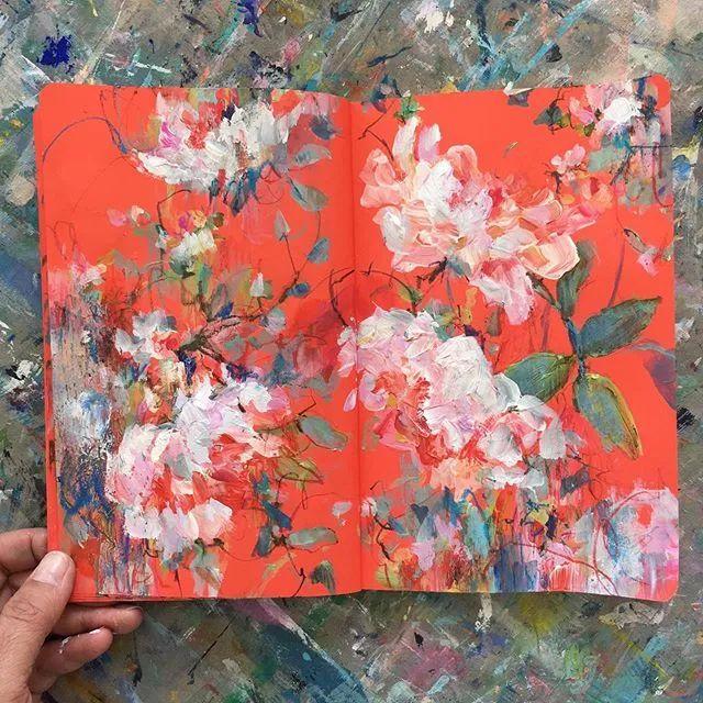 藏在画本里精美的花儿们,好美!插图11