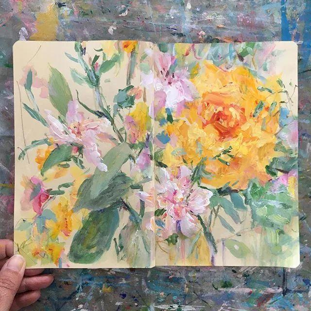 藏在画本里精美的花儿们,好美!插图13