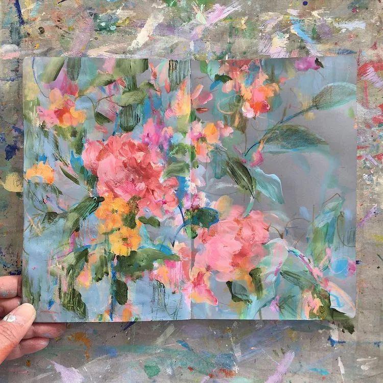 藏在画本里精美的花儿们,好美!插图25