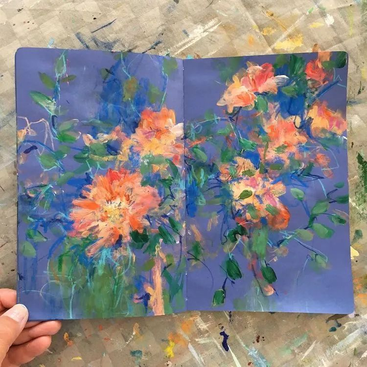 藏在画本里精美的花儿们,好美!插图27