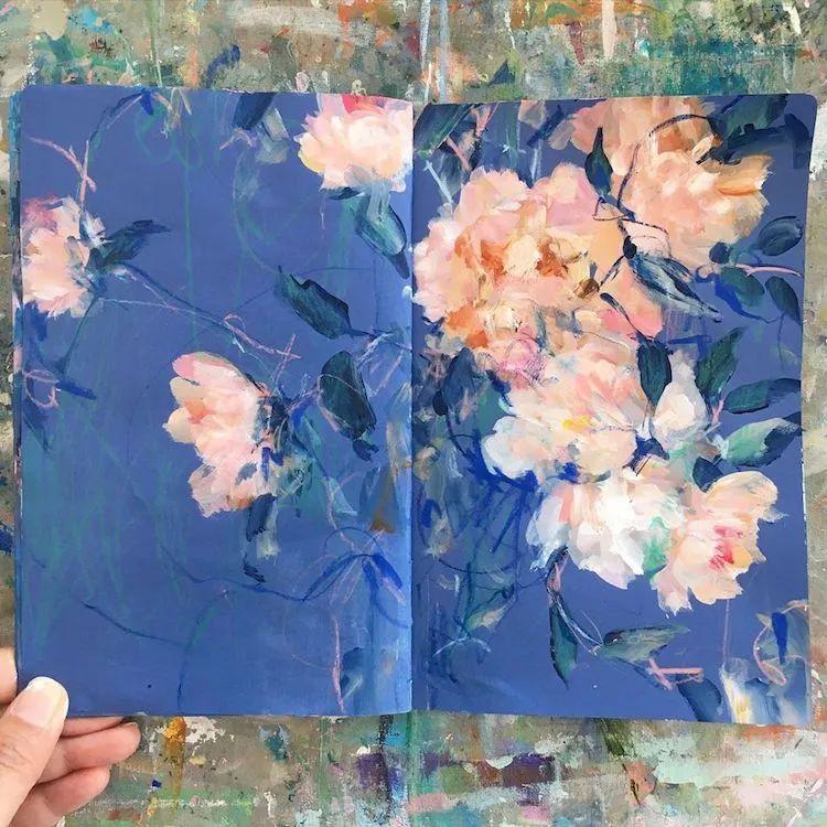 藏在画本里精美的花儿们,好美!插图33