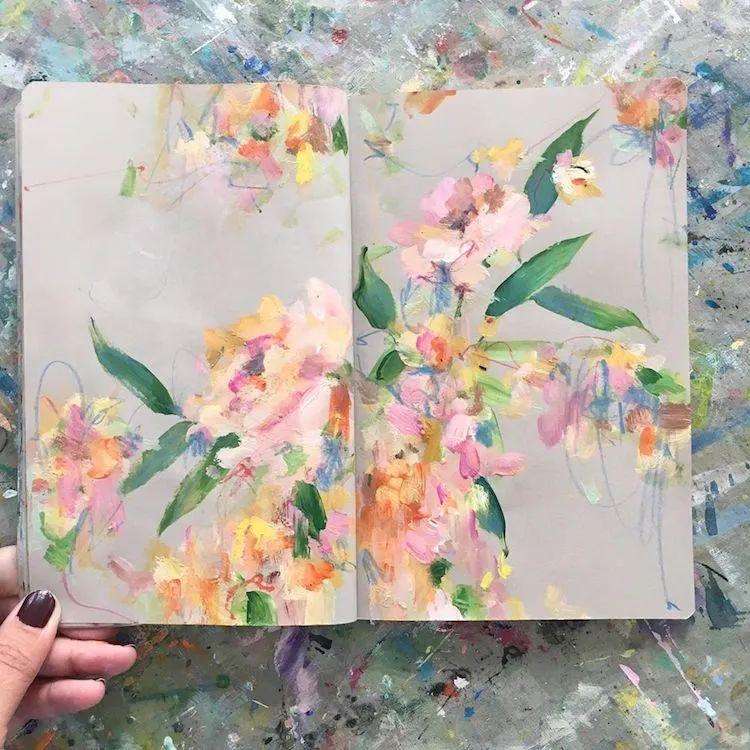 藏在画本里精美的花儿们,好美!插图37
