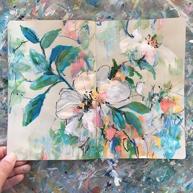 藏在画本里精美的花儿们,好美!插图41