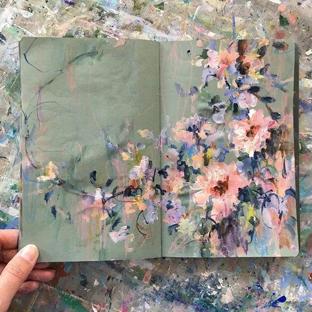藏在画本里精美的花儿们,好美!插图45
