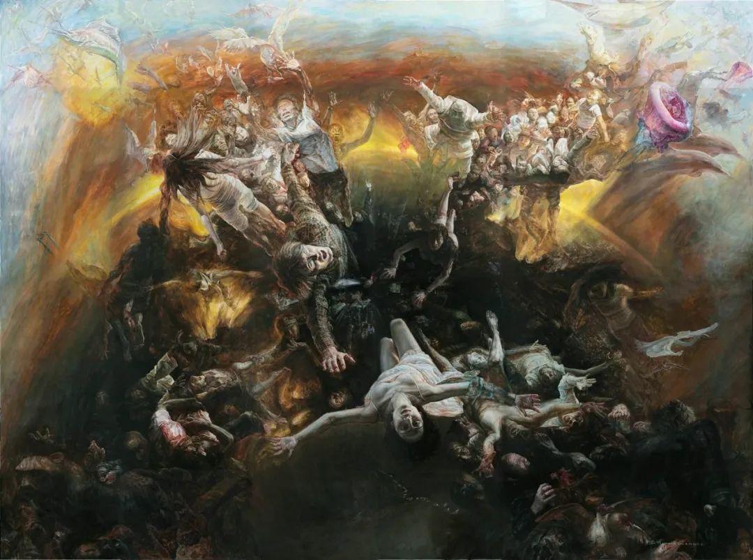 巨幅油画《苍穹之眼》创作过程,看完视频只有两个字:震撼!插图1