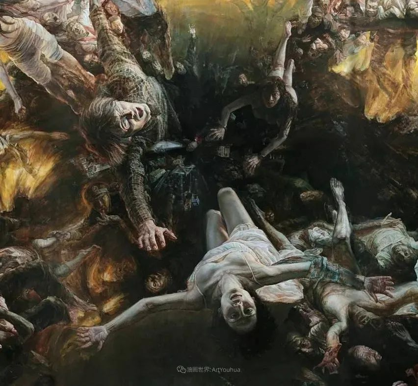 巨幅油画《苍穹之眼》创作过程,看完视频只有两个字:震撼!插图3