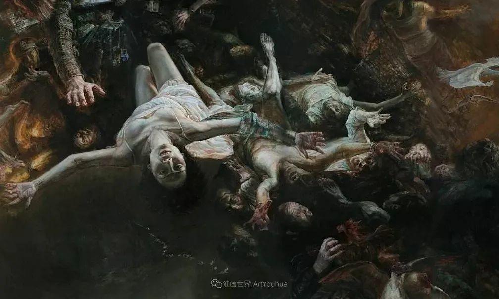 巨幅油画《苍穹之眼》创作过程,看完视频只有两个字:震撼!插图11