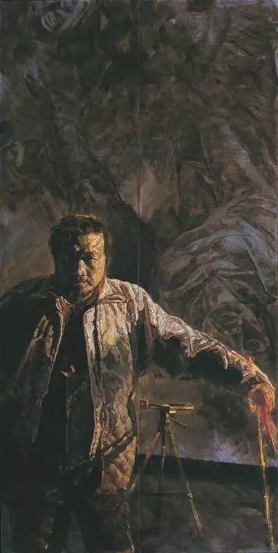 巨幅油画《苍穹之眼》创作过程,看完视频只有两个字:震撼!插图15
