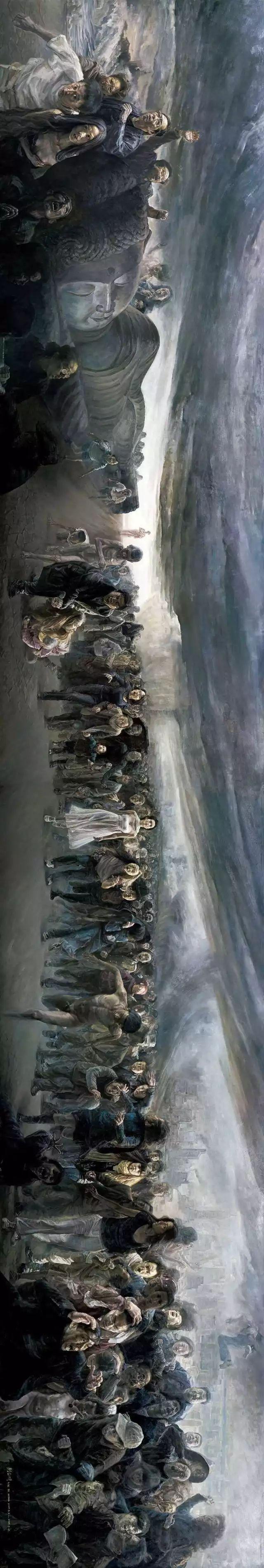 巨幅油画《苍穹之眼》创作过程,看完视频只有两个字:震撼!插图17
