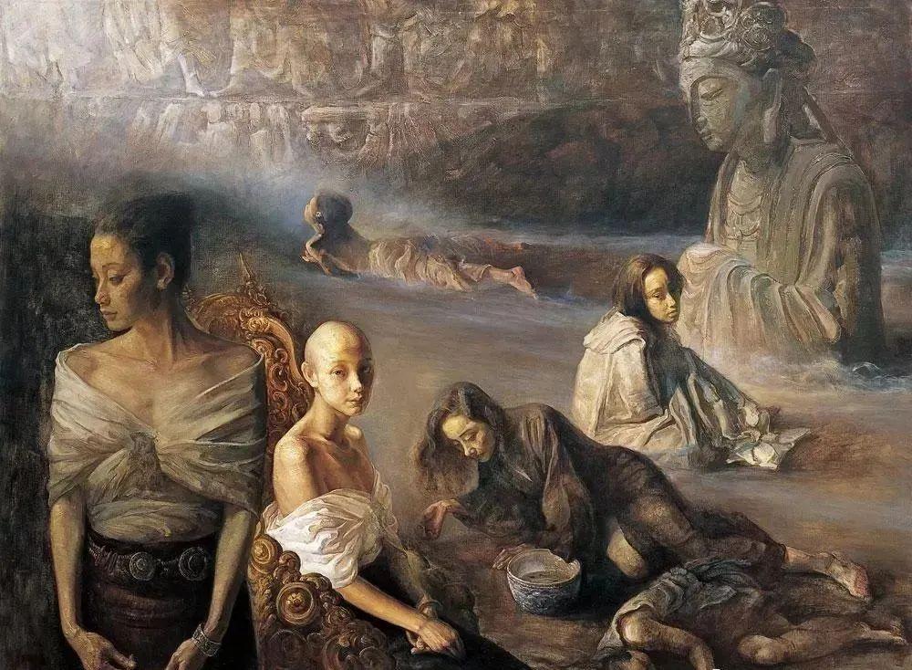 巨幅油画《苍穹之眼》创作过程,看完视频只有两个字:震撼!插图21