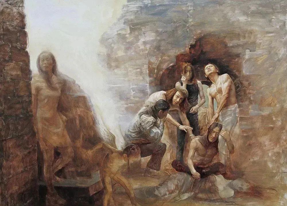 巨幅油画《苍穹之眼》创作过程,看完视频只有两个字:震撼!插图23
