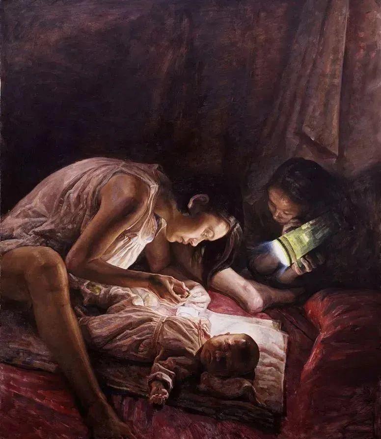 巨幅油画《苍穹之眼》创作过程,看完视频只有两个字:震撼!插图43