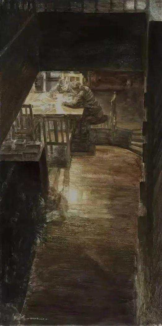 巨幅油画《苍穹之眼》创作过程,看完视频只有两个字:震撼!插图53