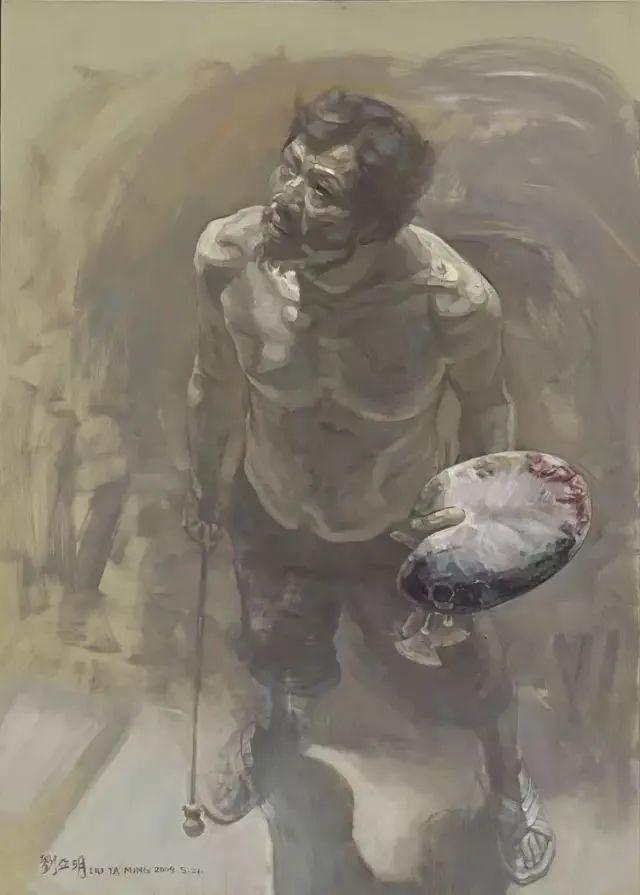 巨幅油画《苍穹之眼》创作过程,看完视频只有两个字:震撼!插图59