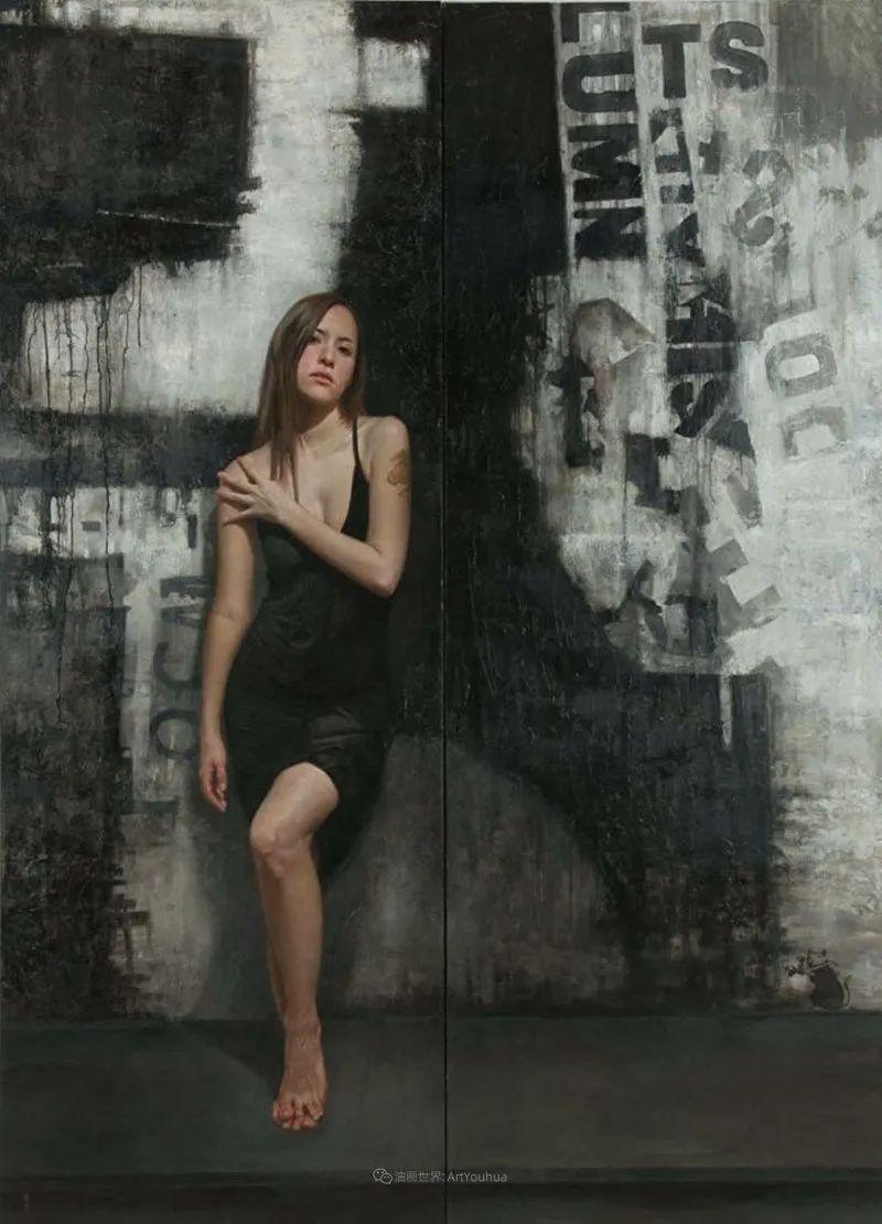 从美学上捕捉人们的真实形态,美国画家戴维·卡桑插图4