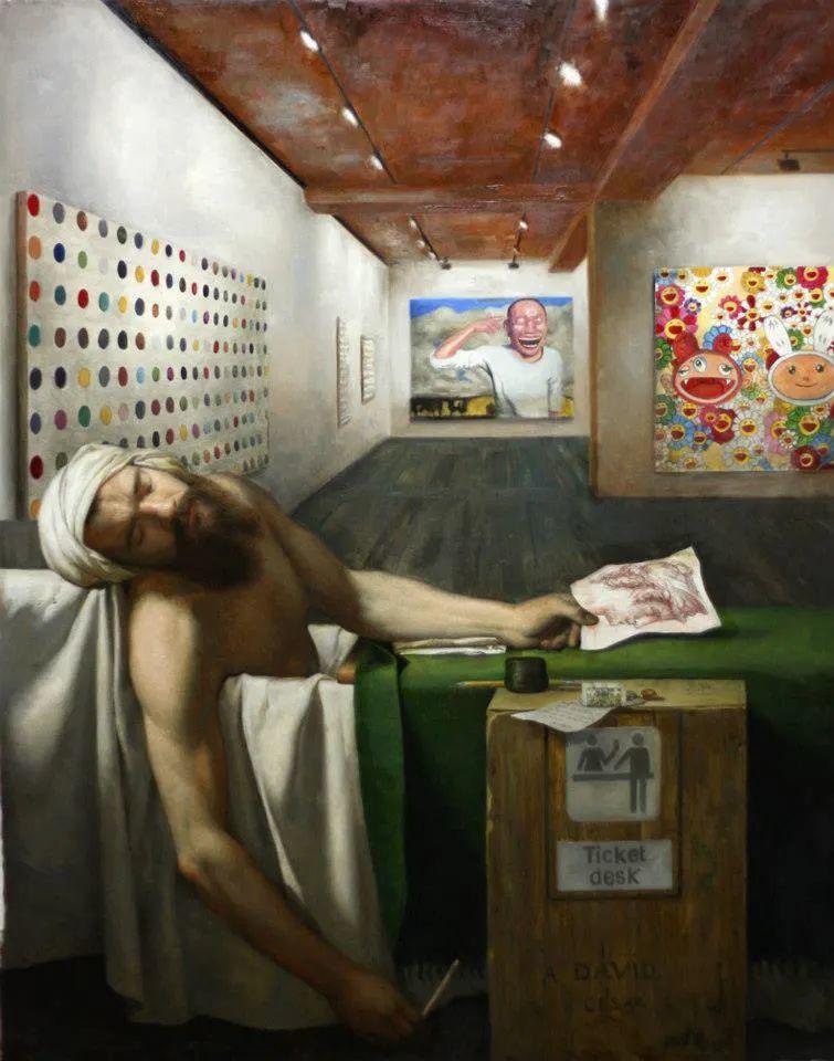 有趣的人物创作,古巴裔美国画家塞萨尔·桑托斯(下)插图1