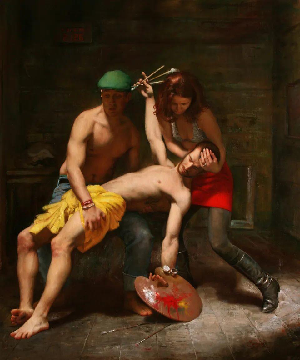 有趣的人物创作,古巴裔美国画家塞萨尔·桑托斯(下)插图5