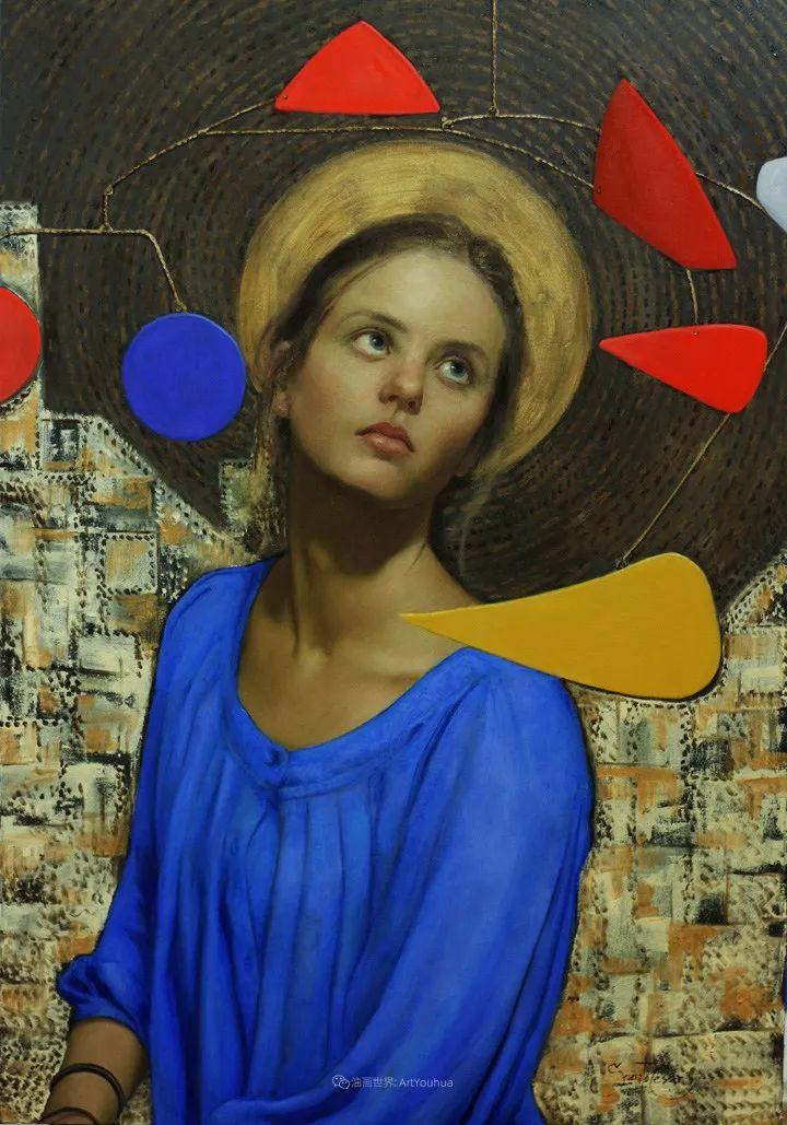 有趣的人物创作,古巴裔美国画家塞萨尔·桑托斯(下)插图17