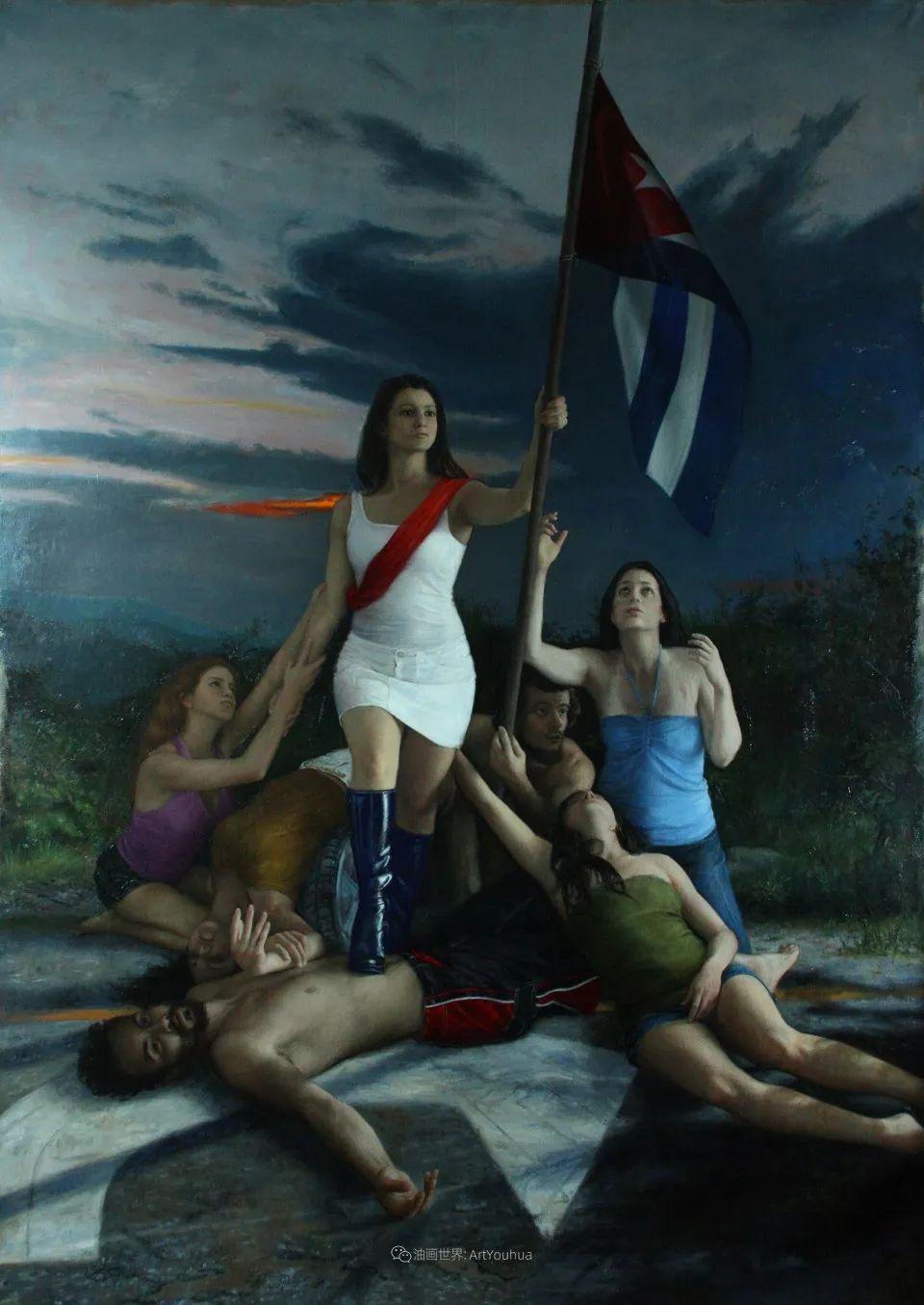 有趣的人物创作,古巴裔美国画家塞萨尔·桑托斯(下)插图19