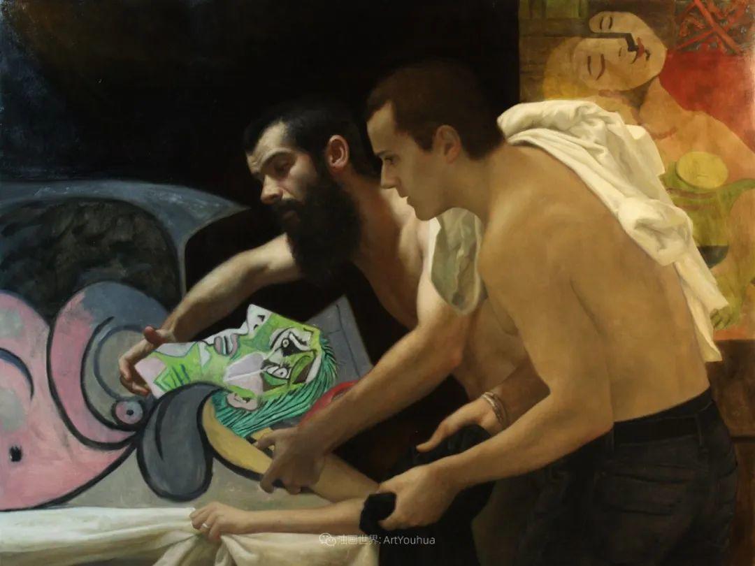 有趣的人物创作,古巴裔美国画家塞萨尔·桑托斯(下)插图21