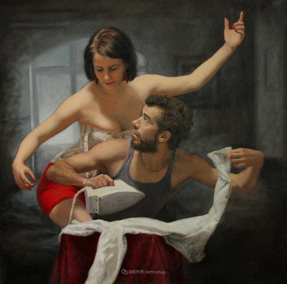有趣的人物创作,古巴裔美国画家塞萨尔·桑托斯(下)插图27